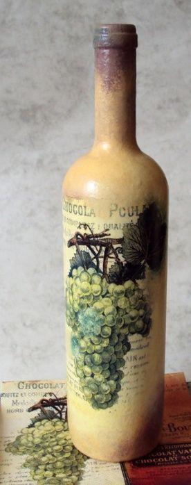 Ideas de decoupage en botellas (21)