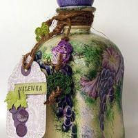 Reciclar botellas con técnica decoupage