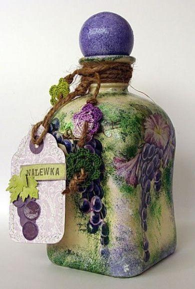 Ideas de decoupage en botellas (3)