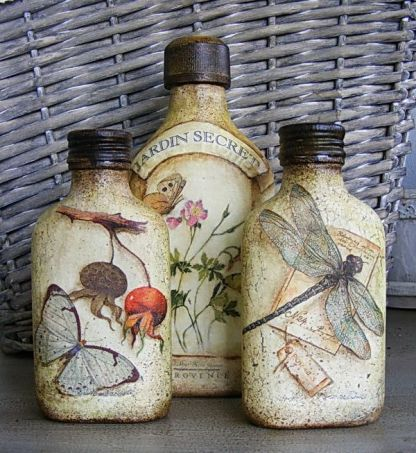 Ideas de decoupage en botellas (6)