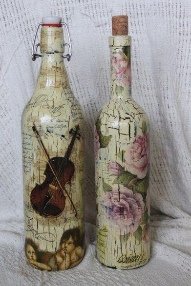 Ideas de decoupage en botellas (9)