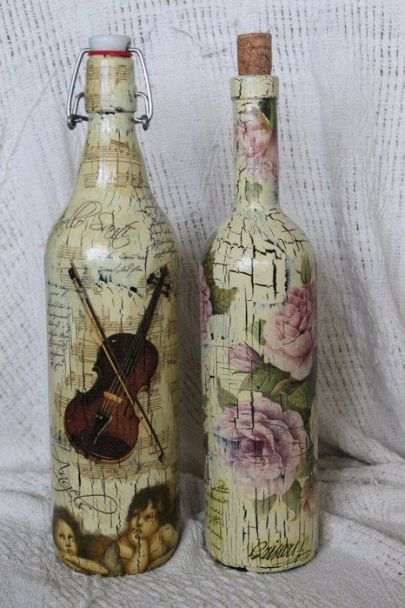 Ideas de decoupage en botellas (9)