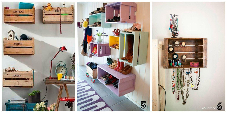 Como reciclar cajas fruta estanteria marina creativa - Como decorar cajas de madera de fruta ...