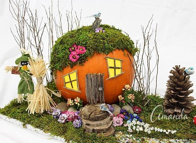 mini casa con jardin