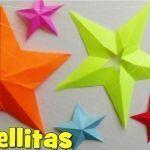 Cómo hacer una Estrella de Papel de 5 Puntas