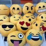 Moldes de cojines con cara emoticones