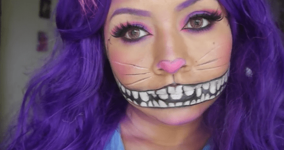 maquillaje Halloween Gato de Cheshire