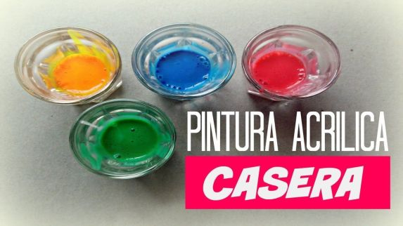 Como Hacer Pintura Acrílica Casera