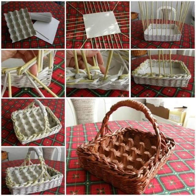 cesta para huevos