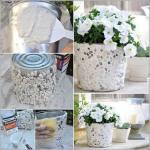 Crear floreros con latas