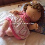 Muñeca bebé con patrones