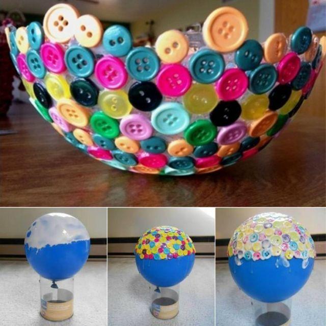centro de mesa de botones