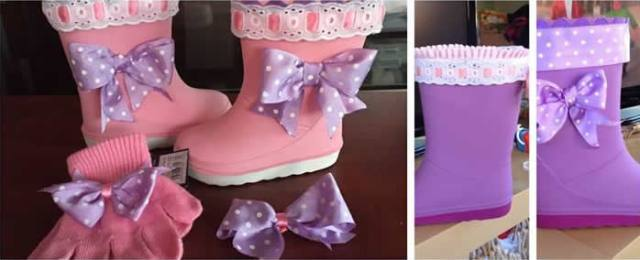 decorar botas goma