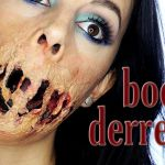 Tutorial maquillaje boca pegada para Halloween