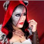DIY Maquillaje caperucita roja-Lobo feroz para Halloween
