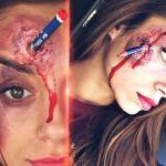 Tutorial maquillaje halloween lápiz clavado