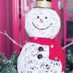 DIY muñeco de nieve para navidad