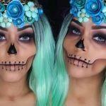 DIY maquillaje de rostro calavera para Halloween