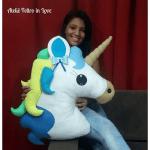 Unicornio almohada cojín con moldes