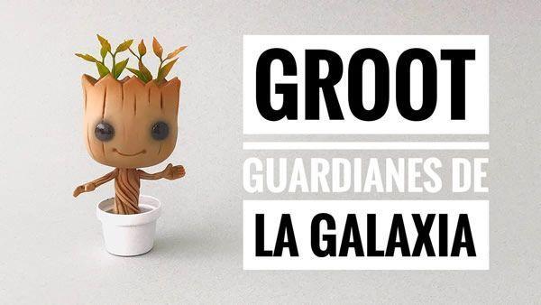 Groot de Guardianes de la Galaxia en Porcelana Fría