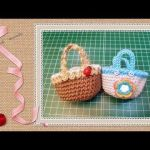 DIY Mini cesta en crochet