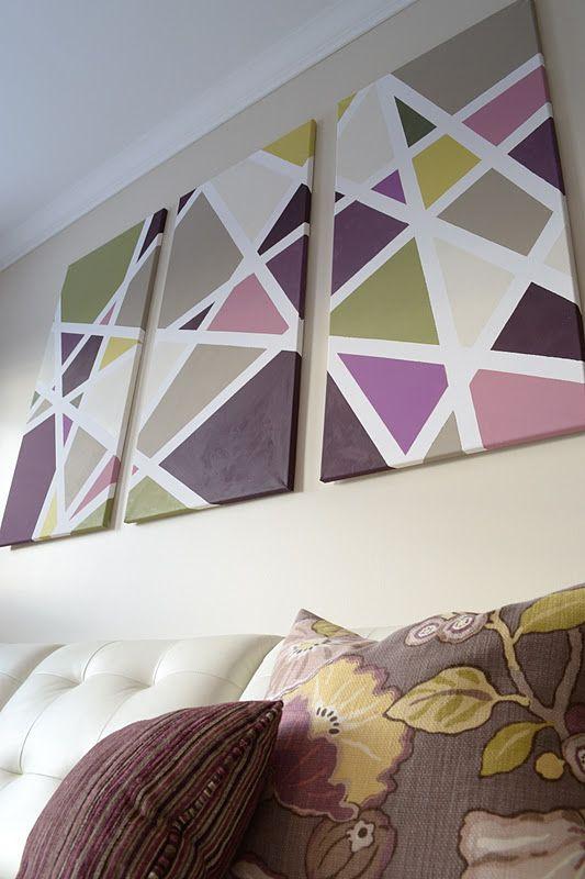 ideas para hacer cuadros DIY Como Hacer Cuadros Geomtricos Decorativos Marina Creativa