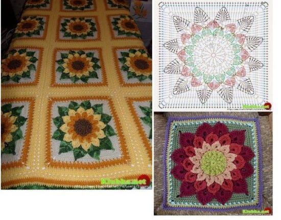 Ideas para hacer mantas a crochet 5