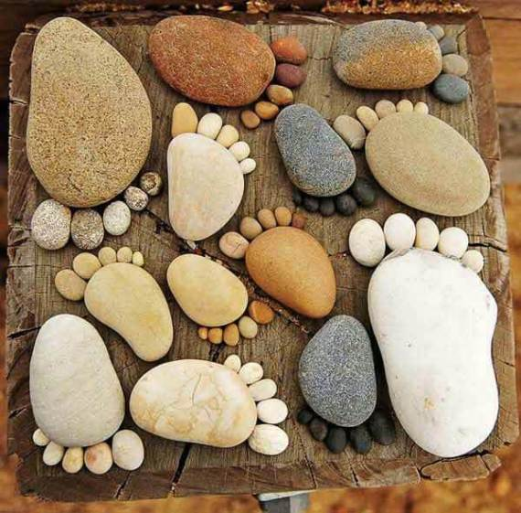 Pies de piedras para decorar el jardín