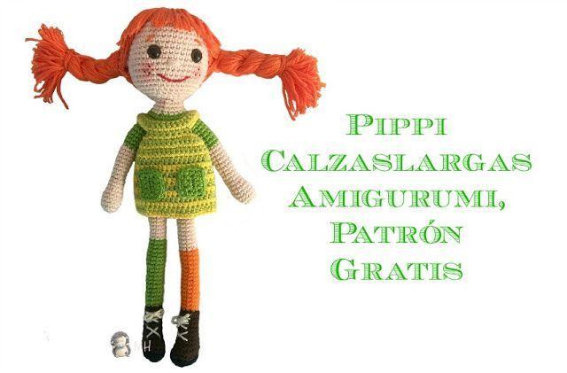 Diy Pippi Calzaslargas en amigurimi