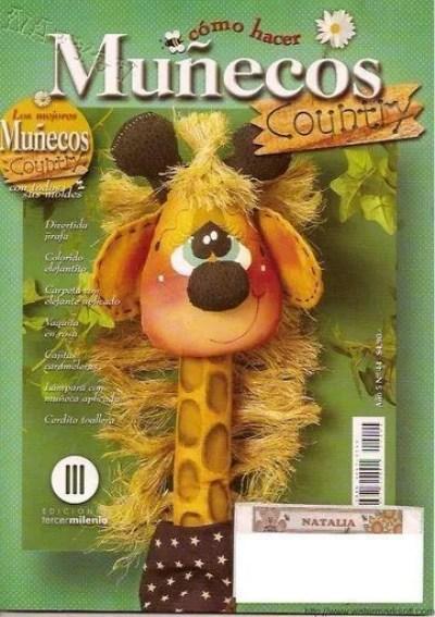 Revista con tutorial y moldes para hacer muñecos country