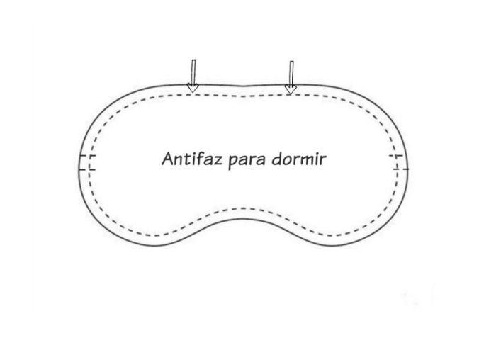 Tutorial y patrón para hacer un antifaz para dormir (2)