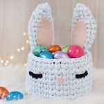 DIY para hacer una cesta conejo de trapillo