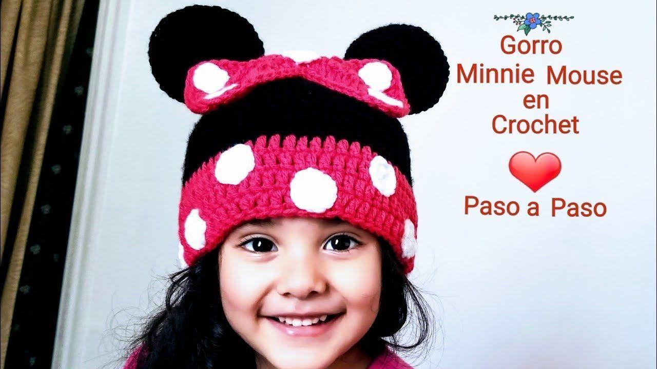 DIY Gorro Minnie Mouse a crochet - Marina Creativa