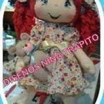 Descarga moldes gratis muñeca Donarella