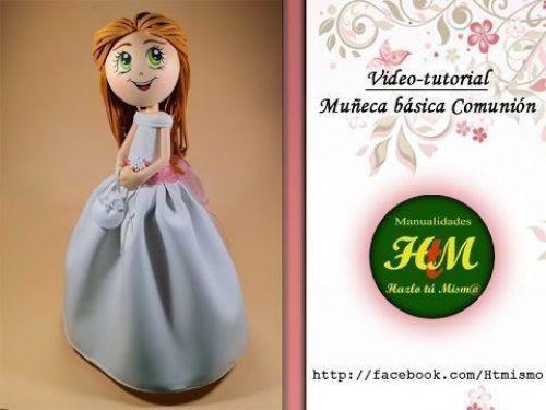 DIY+Patrones muñeca fofucha de 1ºcomunión