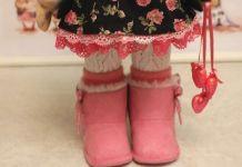 Patrón para hacer botas de muñeca