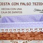 DIY Cesta tejida hecha con caja de zapatos