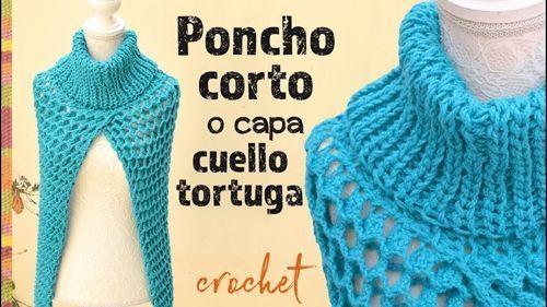Paso a paso para hacer un poncho corto en crochet