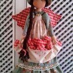 Patrones gratis muñeca de trapo con sombrero
