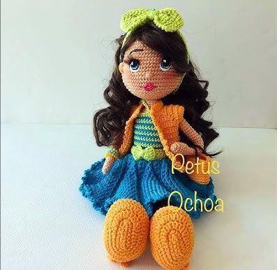 DIY muñeca amigurumi Adriana