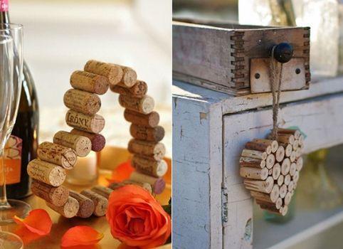 DIY formas de reciclar corchos de botellas