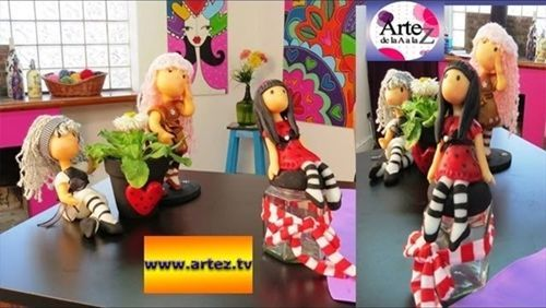 Aprende a hacer muñecas en porcelana fría con tus hijos