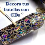 Diy botellas decoradas con CDs