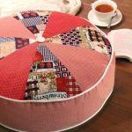 Patrones y Diy para hacer un cojín redondo de patchwork