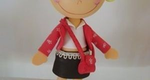 Patrones para hacer una fofucha con bolso y falda