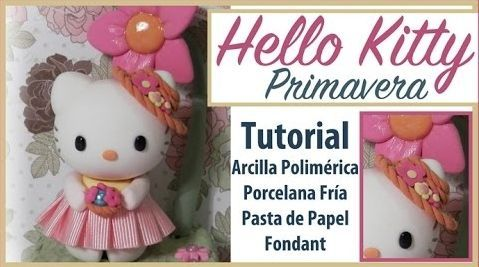 DIY Hello Kitty primavera hecha en porcelana fría