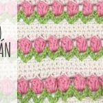 DIY punto tulipán a crochet o ganchillo
