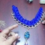 Como hacer un  collar trenzado con cadenas