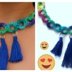 DIY collar hecho a crochet