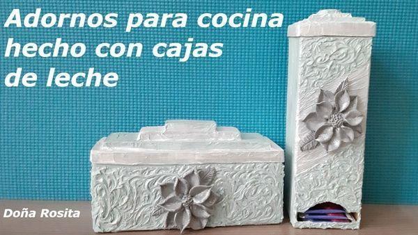 Diy Para Hacer Adornos Reciclando Cartones De Leche Marina